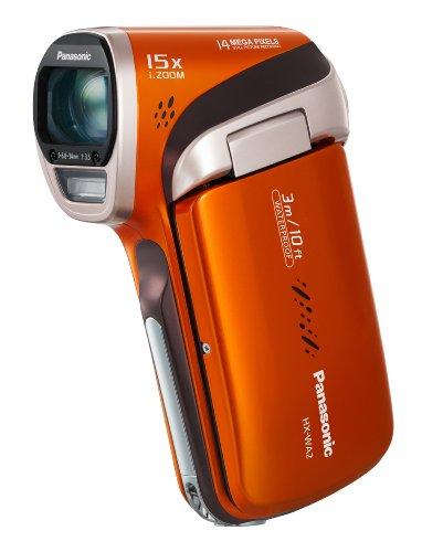 Panasonic HX-WA2EG-D HD-Camcorder (14 Megapixel, 5-fach opt. Zoom, 1MOS Sensor, bis zu 3m wasserdicht, 41mm Weitwinkel) orange