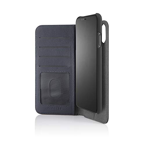 Save %19 Now! PIPETTO iPhone Xs Max 2-in-1 Leather Magnetic Folio Case - Navy