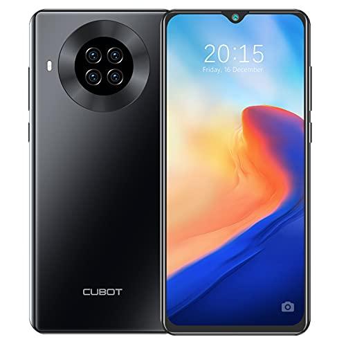 CUBOT NOTE 20 PRO Smartphone 128GB ROM   8GB RAM Octa Core 6.5 Pollici HD+ Celluare Offerta Quad Fotocamera Batteria 4200mAh Supporto Face ID, NFC, Dual SIM, 4G, Nero