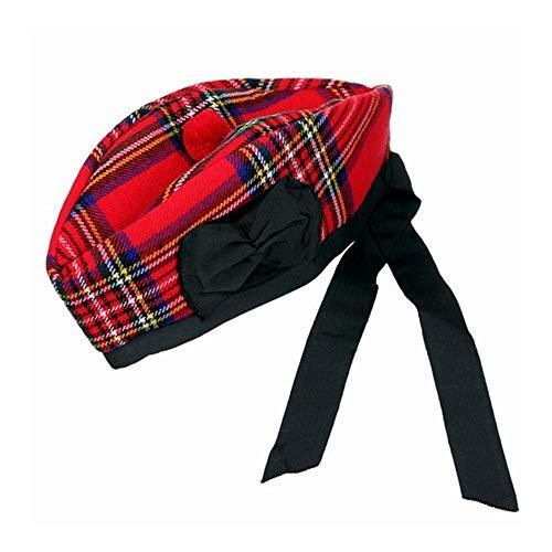 Neuf scottish piper chapeau 100/% laine pure glengarry-noir ou en dés-choisir taille