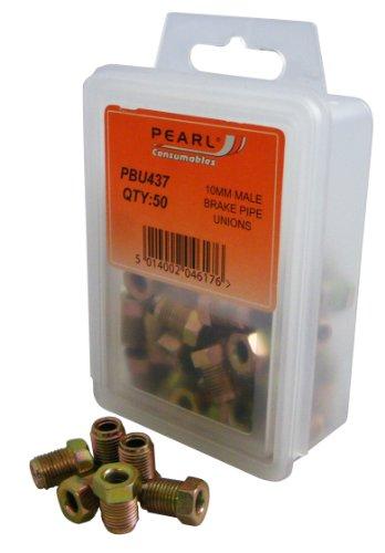 Pearl PBU437 M10 Bremsleitungsverbinder, männlich, 50 Stück