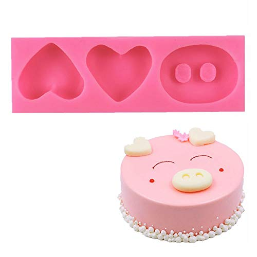 WYD Cartoon Pig Ear Nose Mold West Point Accessories Cake Decoration 3D Softresin Mould Soap Molds