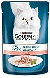 Purina GOURMET Perle: Katzennassfutter, hochwertiges Katzenfutter für ausgewachsene Katzen, 24er Pack (24 x 85 g Beutel)