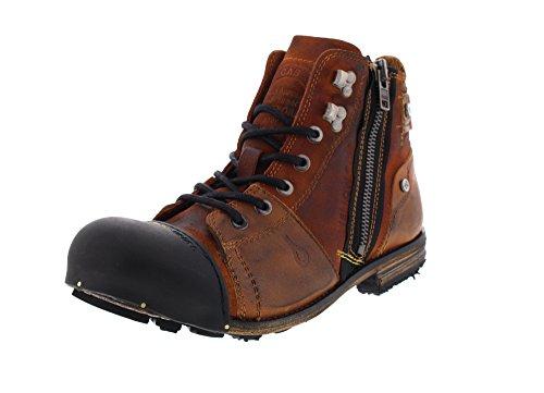 Yellow Cab Herren Industrial M Biker Boots, Braun (Tan 000), 43 EU