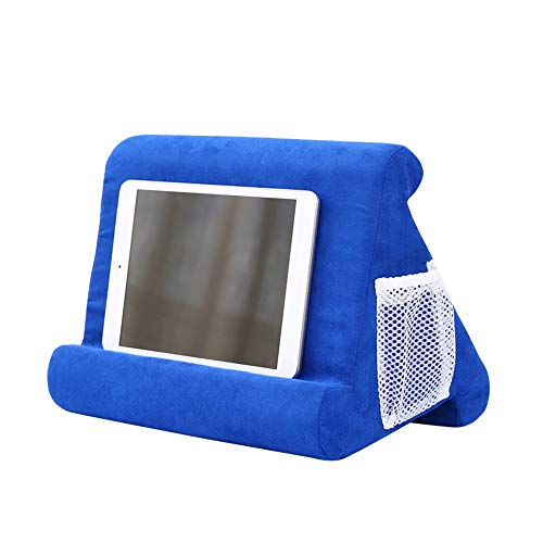 MoneRffi Pad Pillow Tablet Cushion Stand with Net Pocket - Multi-Angle Soft Tablet Pillow for Lap, Knee, Sofa and Bed - Universal Phone & Pad Stands for eReaders, Magazines, Kindle