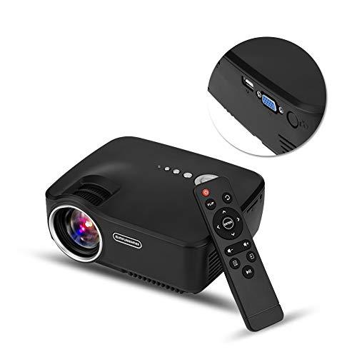 Mini Beamer 1080P Full HD, portátil de 1200 lúmenes Viedeoprojektor para Oficina de Cine en casa con 20,000 Horas de LED, máx.Pantalla de 150