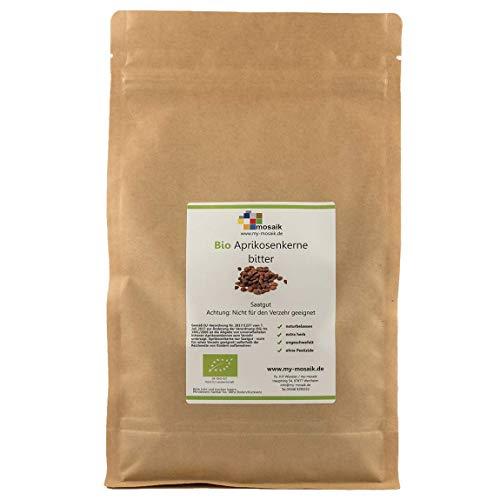 """Bio Aprikosenkerne bitter Qualität\""""extra herb\"""" von my-mosaik - hoher Bitteranteil, naturbelassen, wenig Bruchanteil, ungeschwefelt, ohne Pestizide, Saatgut 1000g"""