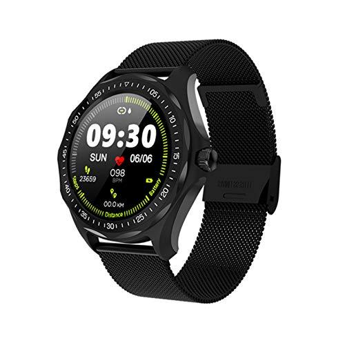 YDK S09 IP68 Reloj Inteligente a Prueba de Agua Ritmo cardíaco Monitor de presión Arterial Mapa GPS Mapa Hombre SmartWatch Moda Fitness Rastreador Reloj,A