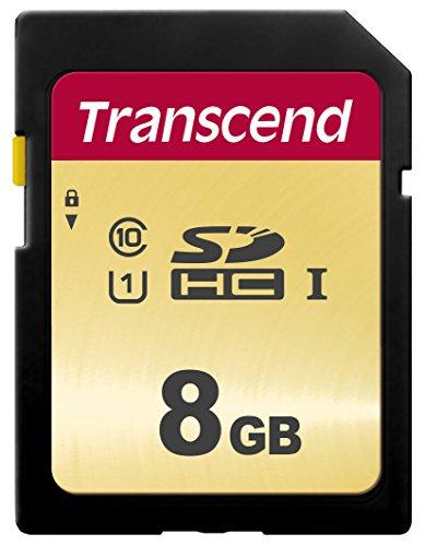Transcend TS8GSDC500S Scheda di Memoria SDHC da 8 GB, Imballaggio Standard, 500S, Per Videocamere