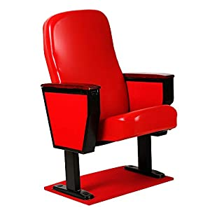 Decdeal Stretch Stuhlhussen Abnehmbarer Stuhlschutz aus PU Leder für Kinostuhl Zuhause Büro