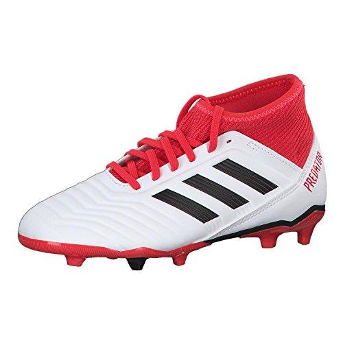 adidas Predator 18.3 Fg, Scarpe da Calcio Unisex-Bambini, Bianco (Weiß/Rot/Schwarz Weiß/Rot/Schwarz), 36 EU
