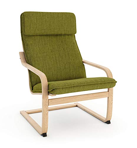 Vinylla Ikea Poäng - Funda de repuesto para sillón (poliéster, diseño de cojín 1), color verde