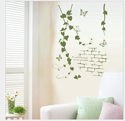 Dormitorio etiqueta de la pared planta hoja vid vid etiqueta de la pared moderna sala de estar porche pvc etiqueta de la pared autoadhesiva 50 * 70Cm