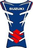 Tankpad - Pegatina protectora de depósito, resinada, efecto 3D, compatible con Suzuki 3