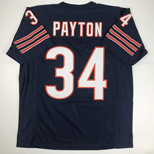 Unsigned Walter Payton Chicago Blue Custom Stitched Football Jersey Size XL New No Brands/Logos