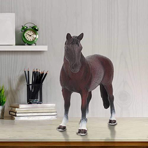 Liyeehao Modelo Animal, simulación de Juguetes de Animales, 3 Tipos de Amantes de los Animales para Decorar el hogar para Que los niños jueguen a los niños(Horse)