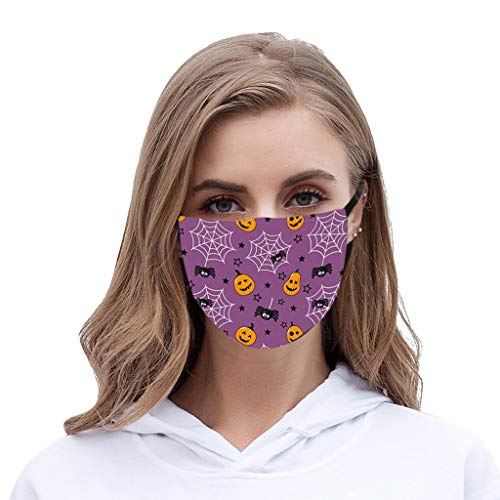 BXzhiri 1PC Reusable Face_Masks Creative Thermal Discoloration Cotton Washable face- for Man Woman coverings Breathable Printed Face Bandana with Adjustable...