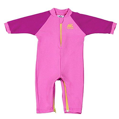Nozone Fiji Sun Protective Baby Girl Swimsuit in Bahama Pink/Fuchsia, 24-36 Months