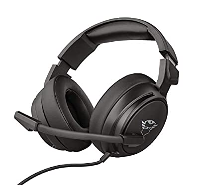 Trust Gaming Headset GXT 433 Pylo with Microphone, Fold Away Mic, Braided Cable, 50 mm Driver Units, Adjustable Headband, for Xbox One, Xbox Series X, PS4, PS5, Nintendo Switch - Black