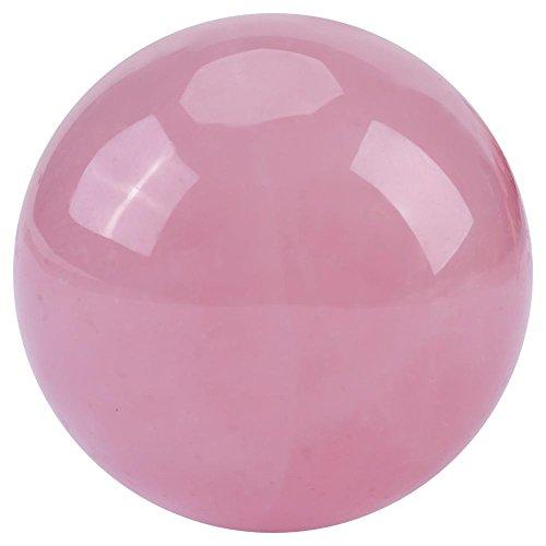 1 boule de cristal rose naturelle en quartz rose