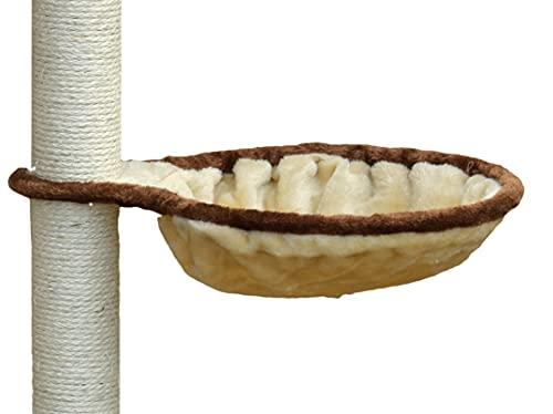 animal-design Liegemulde für Kratzbaum Ersatzmulde Katzenbaum Plüsch stabil Metallrahmen Schlafmulde, Größe:ø 30 cm/beige