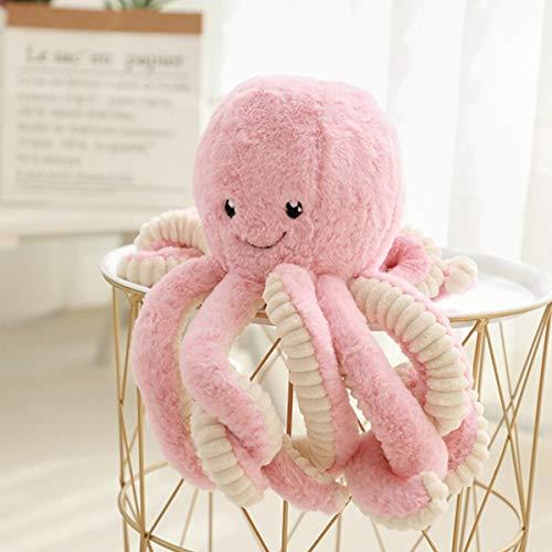 JYCRA Cartoon-Oktopus-Plüsch-Puppe, 40 cm, süße Oktopus-Puppe, weich gefülltes Tier-Spielzeug, Plüsch-Kissen für Kinder, Mädchen, Jungen, Geburtstag, Plüsch, Rose, 40 cm