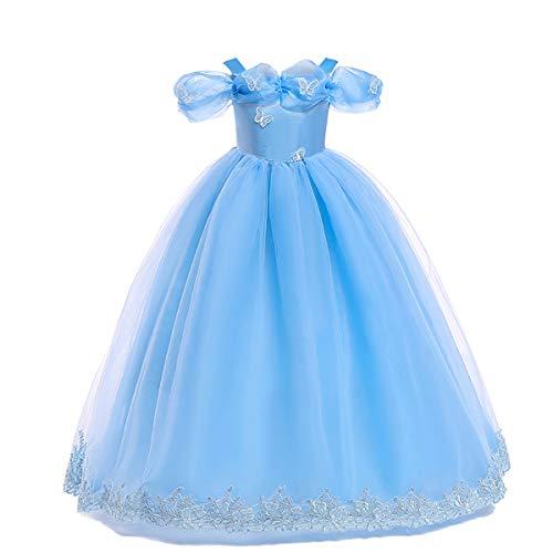 IMEKIS Disfraz de Cenicienta para niñas, disfraz de princesa de hada, mariposa, cumpleaños, Halloween, Navidad, carnaval, cosplay, fiesta