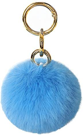 Pom Pom Keychain for Women Hygiene Hand Key Chain No Touch Door Opener Tool Set Artificial Fur product image