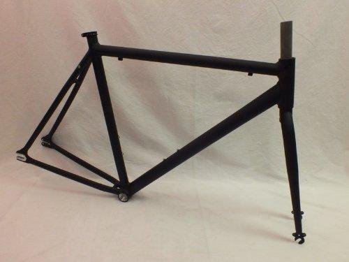 Motobecane Unbranded Fixie Record Bicycle Frame Set (Gloss Black, 56cm)
