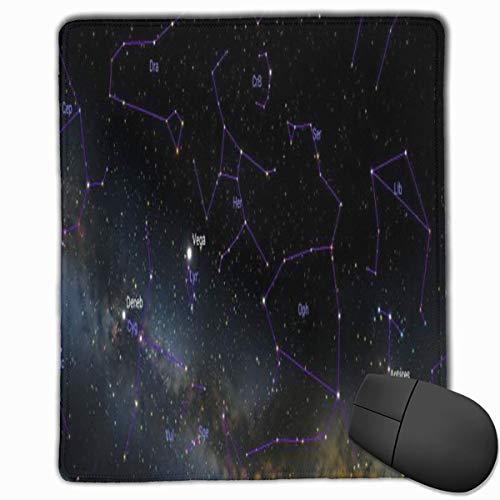Hechos de la constelación Hércules Rectángulo Antideslizante Goma Mousepad Accesorios para computadora 18 x 22 CM