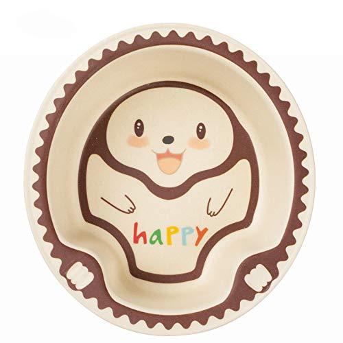 Vajilla de fibra de bambú para niños, polvo de bambú, cuenco de arroz para niños, cuenco de arroz para jardín de infantes, cuenco de arroz para suplemento alimenticio para bebés
