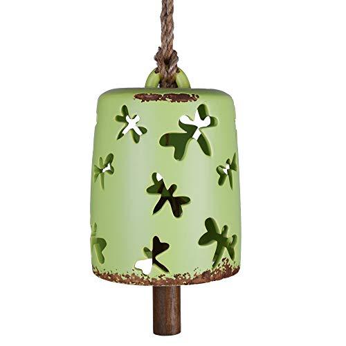 X-nego Garden Relaxing Ceramic Wind Chimes Hanging Harmony Bells for Indoor/Outdoor