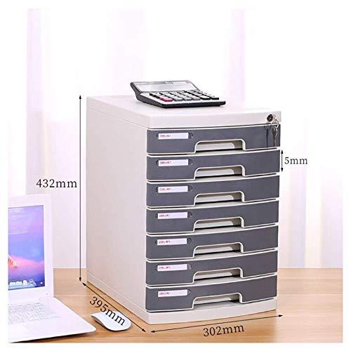 Archiefkast archiefkast meerlagige gesloten desktop aktenkast ladentype data-bodem vitrine papieropslag eindbewerking organizer voor het sorteren van kantoorgegevens (kleur: D) B