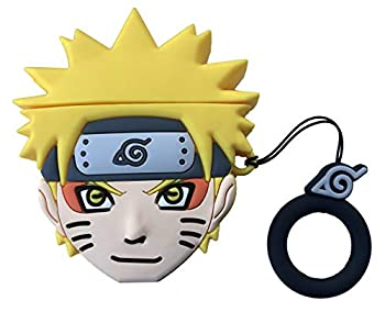 Airpods Case,New 3D Cute Cartoon Naruto Uzumaki Naruto Airpods Cover Soft Silicone Airpod 1&2 Designer Skin Kawaii Funny Fun Keychain Ring Design Cover Airpod Cases for Kids Teens Girls Boys