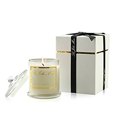LA JOLIE MUSE Jasmine Scented Candle Gift Soy Wax, Glass Jar Candle, 55 Hours BURN, Fine Home Fragrance, Gift Candle for Mothers Day Gift