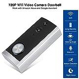 Simlug WiFi Video Doorbell Camera , HD 720P WiFi Video Camera Doorbell Timbre inalámbrico de bajo Consumo Trabajo con Alexa Echo