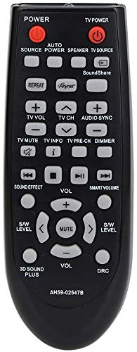 Remote Control Compatible with Samsung HW-D350/ZF HW-D450/XU HW-D550 HW-E350 HW-E450/ZAZZ01 HW-F355/ZA HW-F551 HW-H550 Home Theater Sound Bar System
