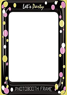 Photobooth Props Frame, Let's Party Photobooth Frame Props Photo Booth Selfie Picture Frame