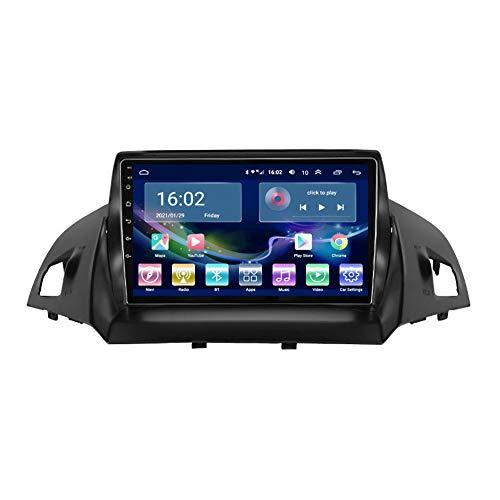Kilcvt NavegacióN GPS Multimedia para Coche con Pantalla TáCtil Completa Android 10 De 9 Pulgadas, para Ford Escape 2013-2017 Soporte para Control del Volante/WiFi/Am/Bluetooth,WiFi: 2 32g