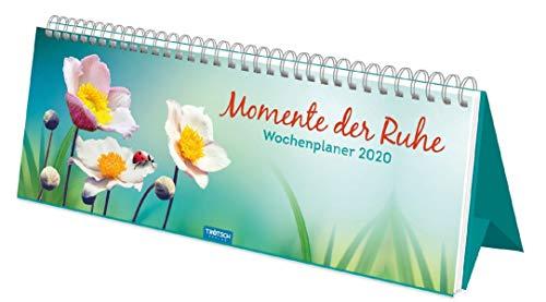 """Wochenplaner """"Momente der Ruhe"""" 2020: 28 x 12 cm (Aufstellkalender)"""