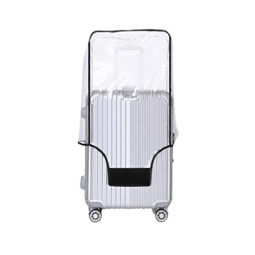 Yotako Clear PVC Suitcase Cover Protectors 20 24 28 30 Inch Luggage Cover for Wheeled Suitcase (28''(19.3''L x 11.8''W x 28.4''H))