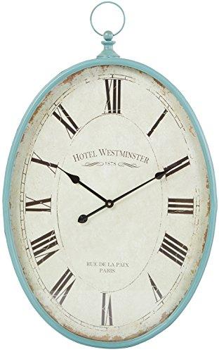Aspire Sonia Oval Wall Clock, Blue