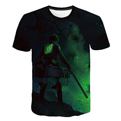 DIANZIKEJI Anime T-Shirt Ataque en Titán Imprimir Punk Top Flow Flow Gothic Women's Camiseta-1_3XL