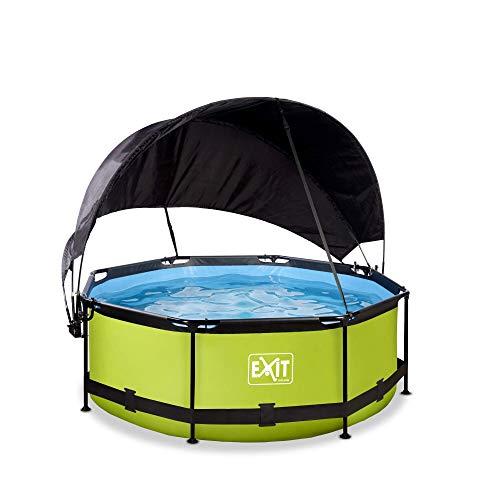 EXIT Lime Pool ø244x76cm mit Sonnensegel und Filterpumpe - grün