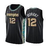 ZSDV Jersey de Baloncesto para Hombres, gṙizẓlịeṣ mõrạnṯ # 12 Unisex Bordado Camiseta de Baloncesto sin Mangas Chaleco Deportivo Top M