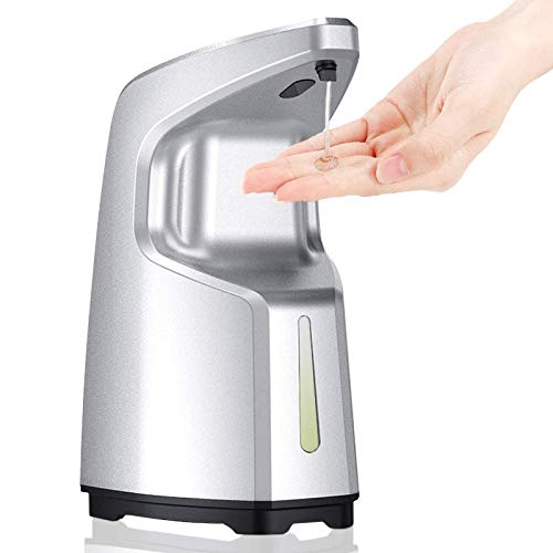 ibowee Touchless Hand Sanitizer Dispenser,15.2oz/450ml Automatic Soap Dispenser,Hand Free Liquid/Alcohol/Gel 4 Adjustable Dispenser,Countertop/Wall Mount/Tabletop for Kitchen