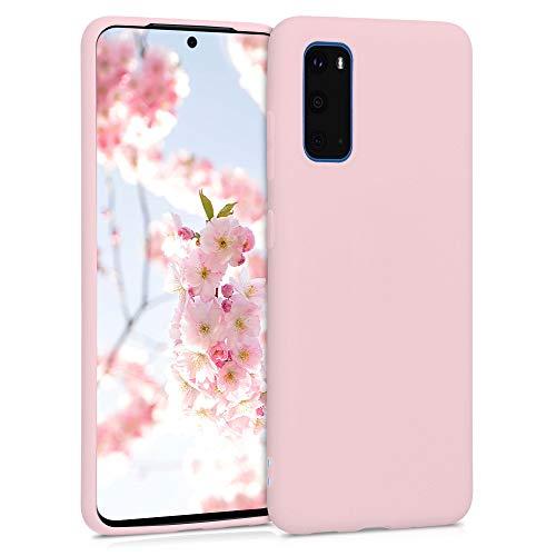 kwmobile Cover Compatibile con Samsung Galaxy S20 - Custodia in Silicone TPU - Backcover Protezione Posteriore- Pesca