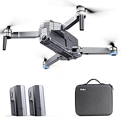 RUKO F11Pro Drones with Camera for Adults 4K UHD Camera Live Video 30 Mins Flight Time with GPS Return Home Brushless Motor-Black?1 Extra Battery + Carrying Case?