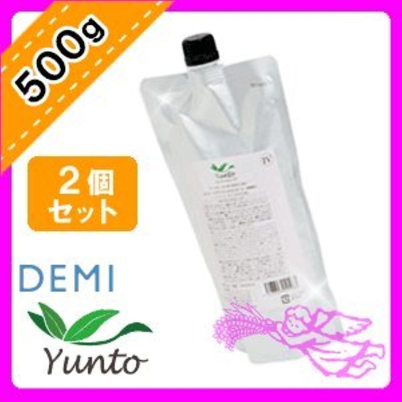麦芽哲学微生物デミ ユント トリートメント4 <500g×2個セット> 詰め替え DEMI yunto エイジングケア