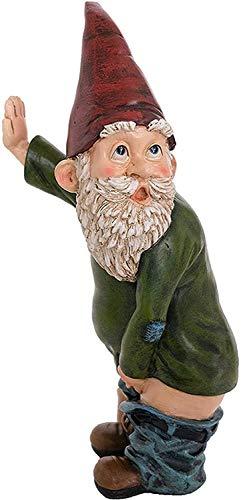 SHENGMIAO -nain de jardin -Nain de jardin de 15 cm, amusant Gnome coquin, nain de jardin pour décoration de pelouse, décoration intérieure ou extérieure - Licence véritable (1).
